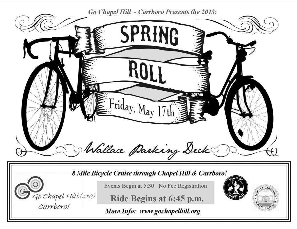 Spring Roll 2013 Cruiser THIS FRIDAY, May 17!!!