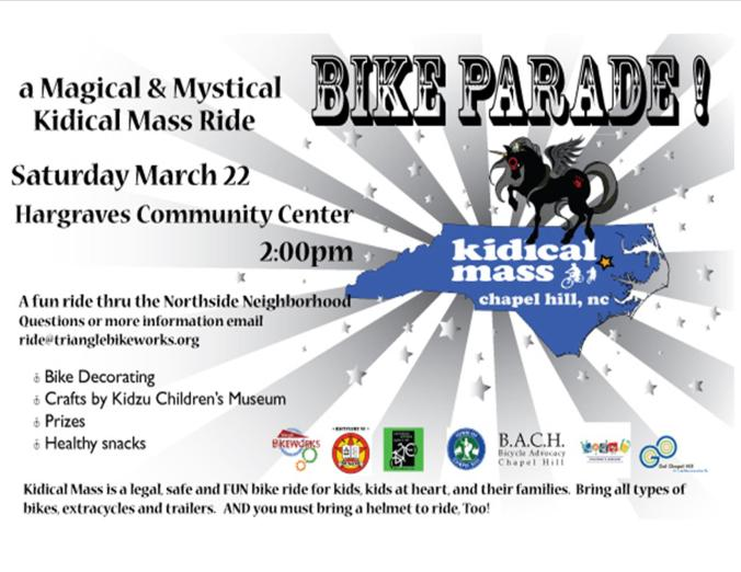March 22 Grab a Helmet & Ride The Kidical Mass!
