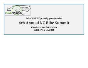 NC Bike Summit 2015