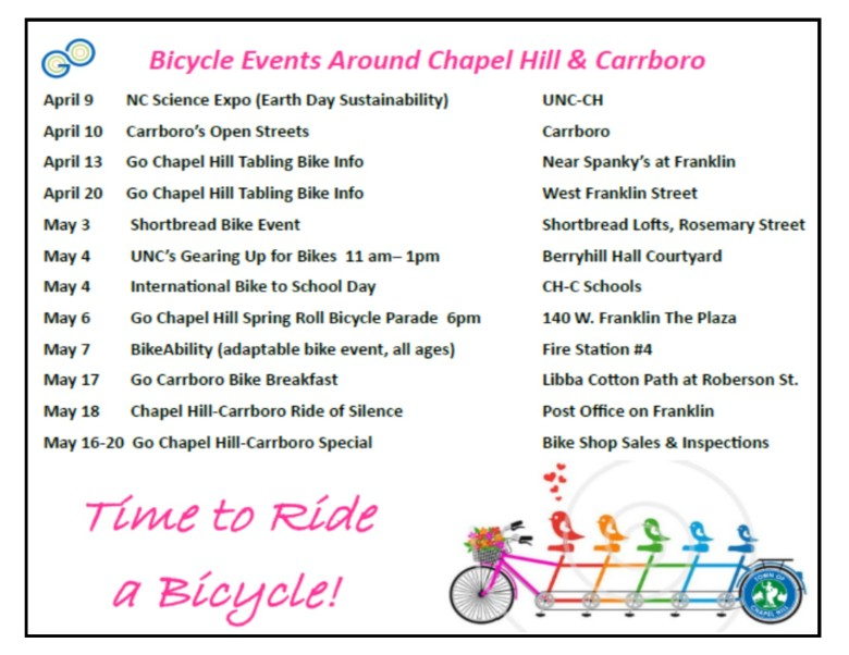 Bike Events Schedule 2016