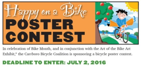 Happy on a Bike Poster Contest - June 2016