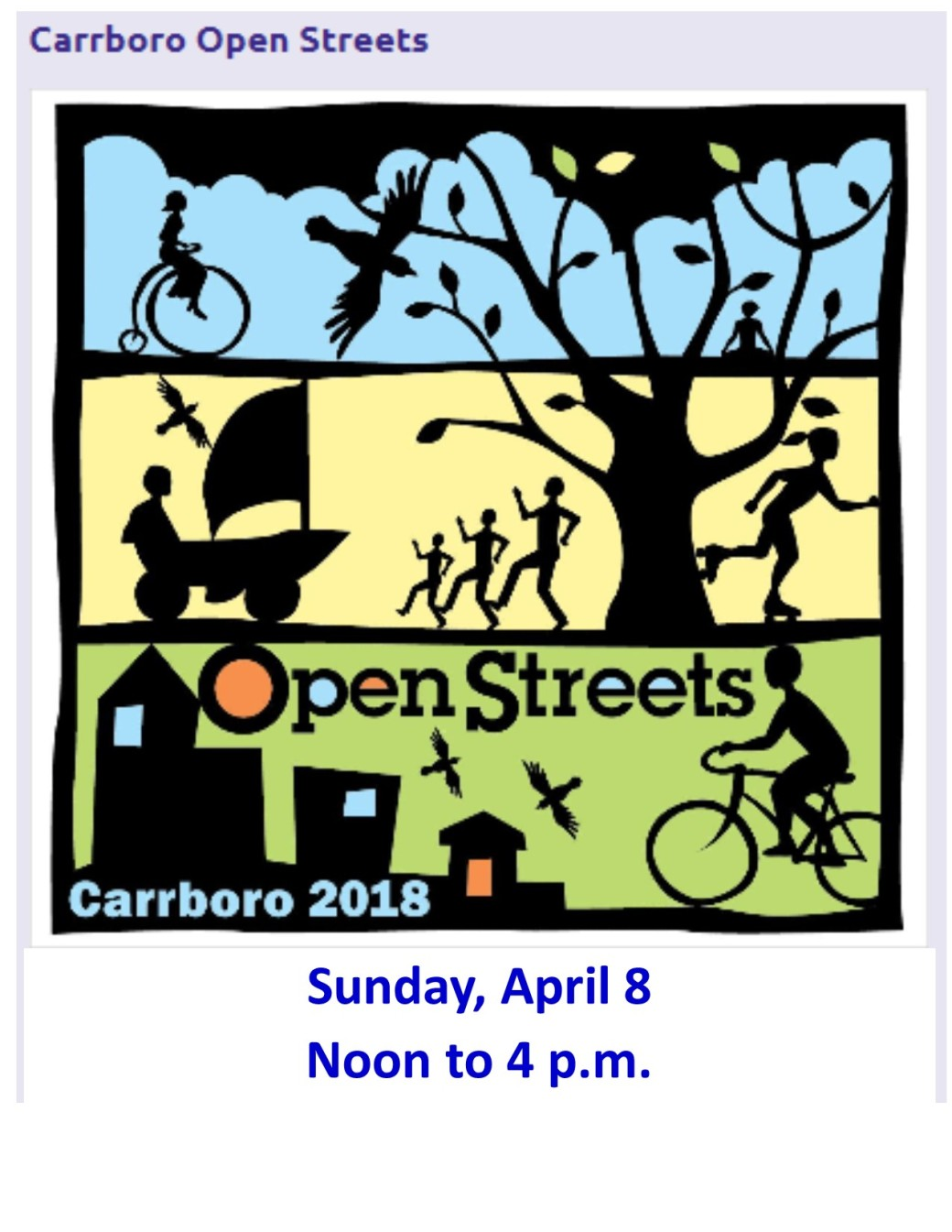 Carrboro Open Streets 2018