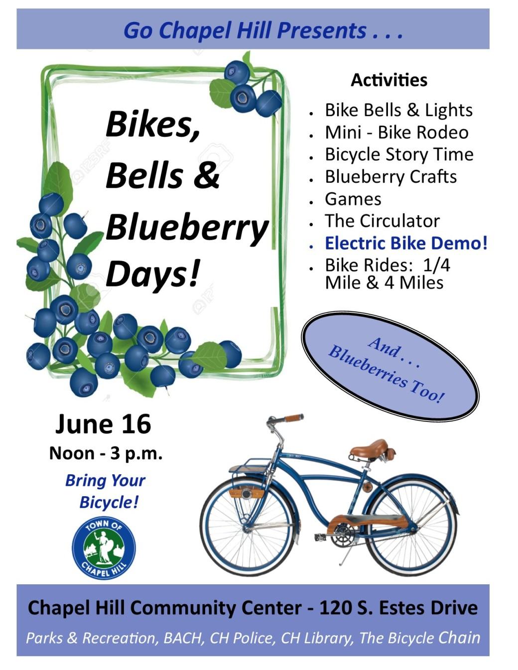 Bikes, Bells Poster June 16