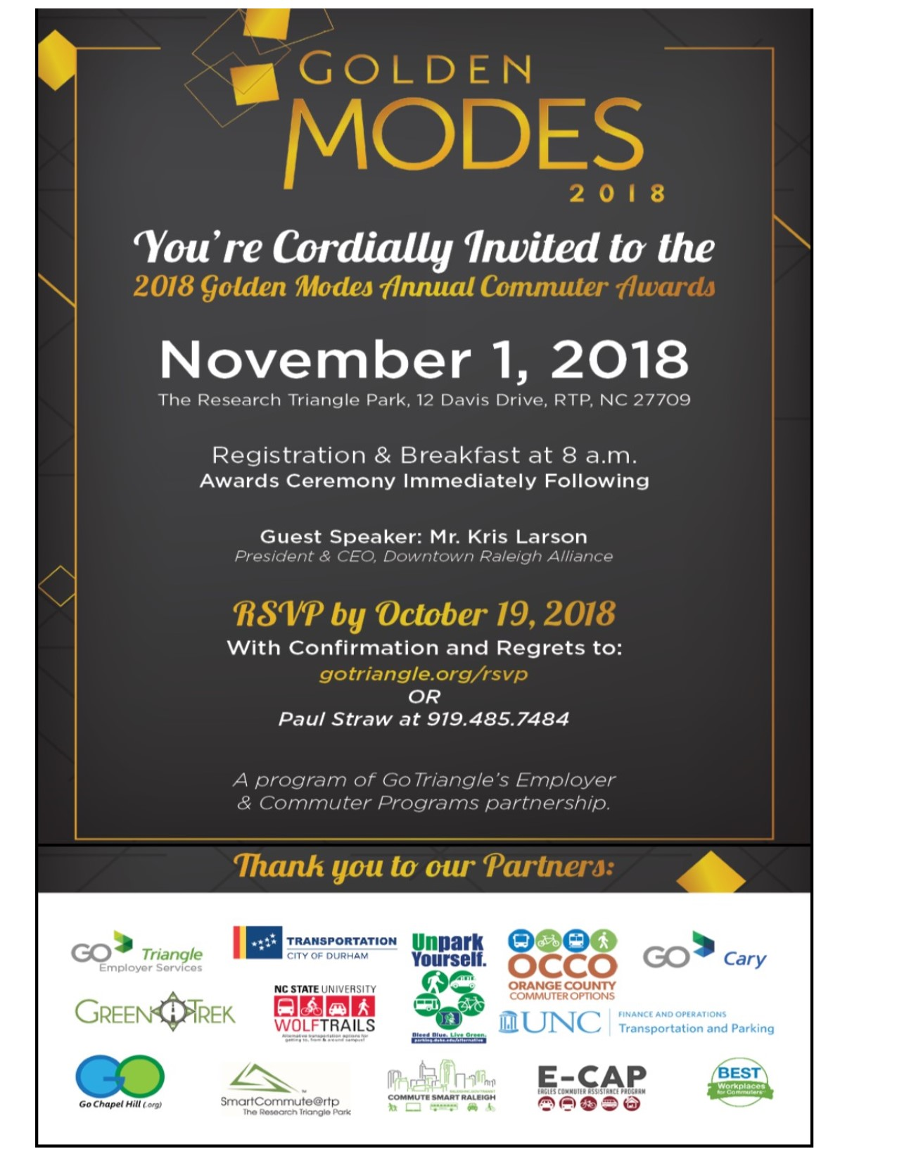Regional TDM Awards Invitation 2018 | Go Chapel Hill!