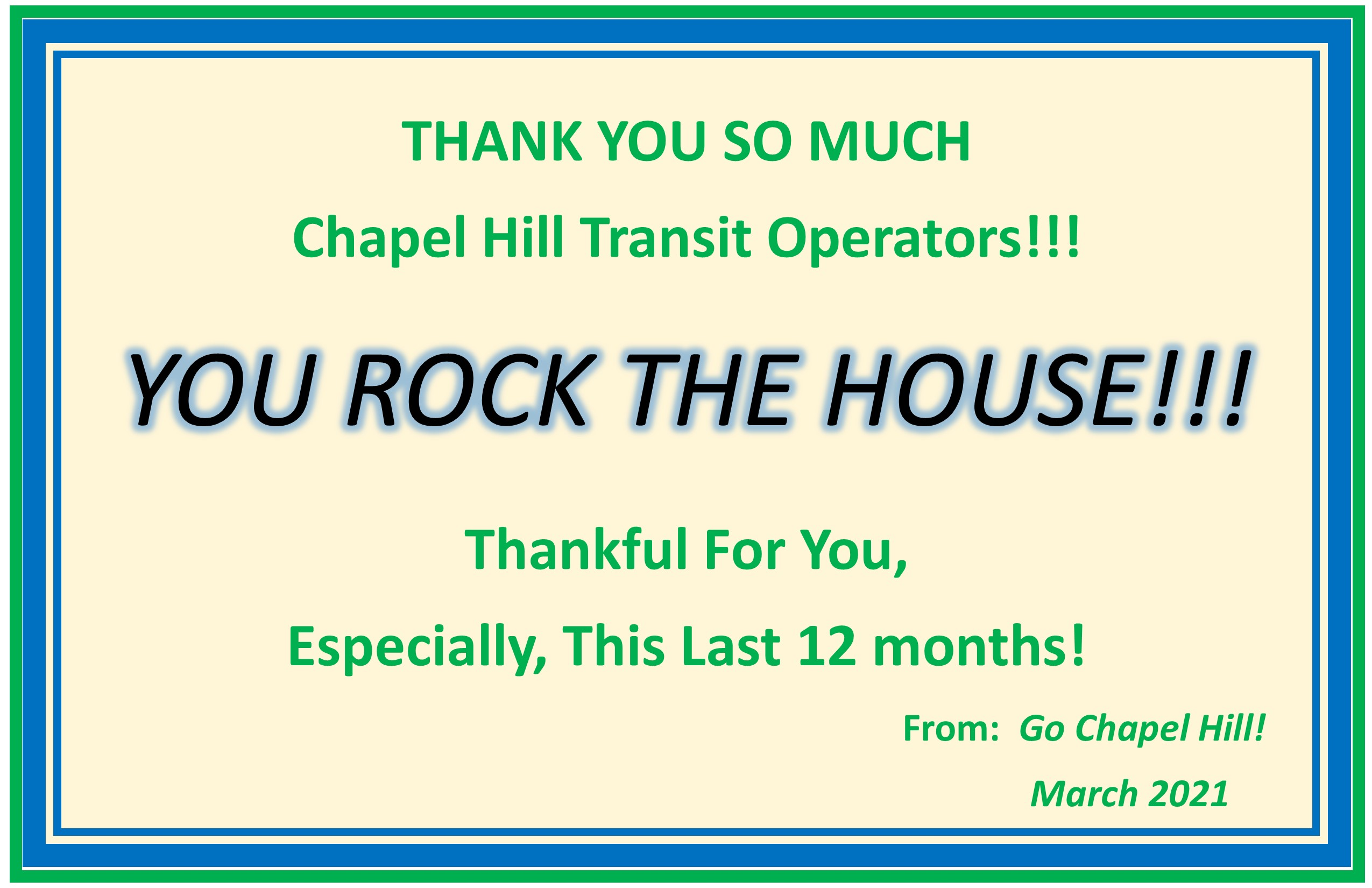 Transit Operators Thank You Event at CHT